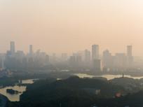 清晨的惠城区城市风光