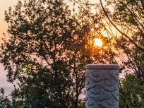 早晨的石柱