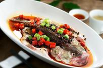 豆豉蒸鲑鱼
