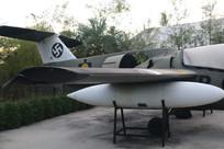 二战德国飞机尾部特写