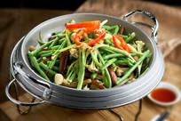 干锅豇豆花菜