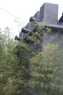 架在城楼上的土炮管