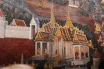 精美的泰国寺庙壁画
