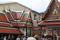 寺庙与夜叉门神
