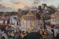 泰国佛教故事壁画