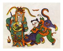 朱仙镇年画打虎