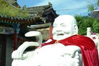 白玉弥勒佛像