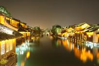 美丽的乌镇夜景