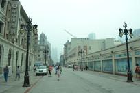 天津步行街的道路