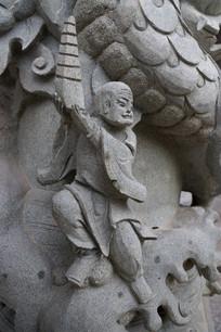 托塔天王石雕