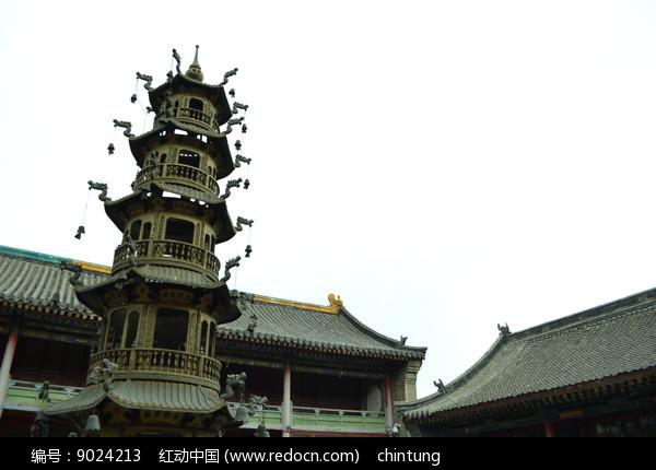 五台山的寺庙的香炉图片