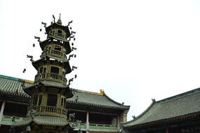 五台山的寺庙的香炉
