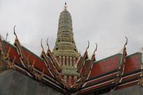 大皇宫寺庙屋顶特写