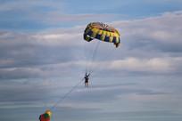 飞翔起来的滑翔伞