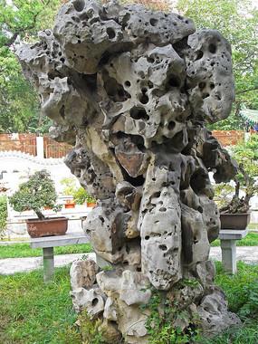 公园里的假山石