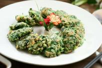 海鲜青菜饼
