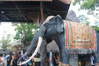 水上市场门前的大象雕塑
