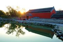 寺庙早晨及阳光