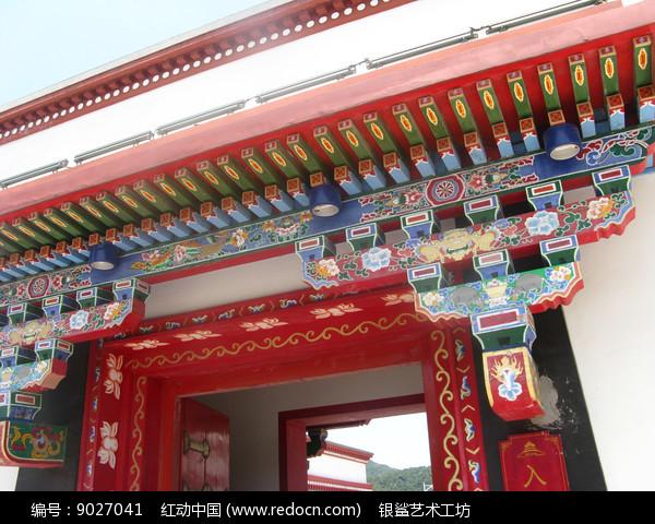 中国传统装饰的门头图片