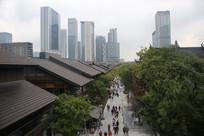 成都市中心商业街区