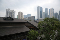 成都市中心商业区仿古建筑