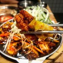 韩国料理酱炒鱿鱼