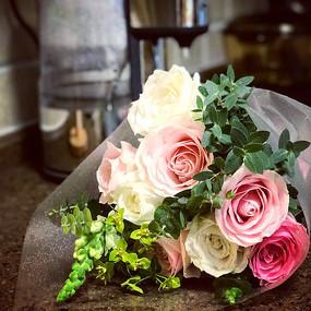 清新玫瑰花束