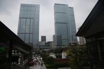 商业街高楼大厦