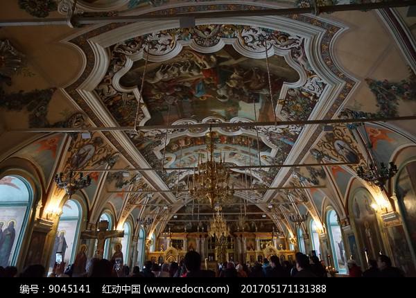 三一修道院内景图片