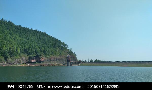 水库景色图片