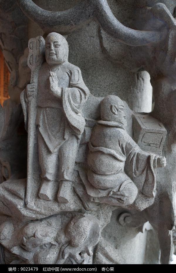 寺庙的佛雕艺术图片