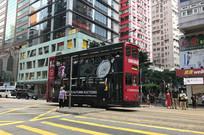 香港铜锣湾街道叮叮车
