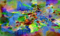 高雅抽象油画壁画背景墙