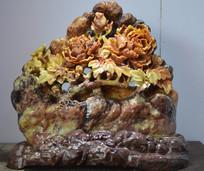 花开富贵石雕
