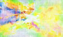 黄色抽象油画
