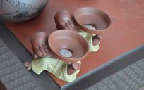 可爱小和尚茶宠泥塑