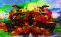 现代简约抽象艺术壁画