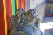 张帅府垂花仪门公石狮与小石狮