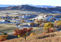 草原沙化的丘陵