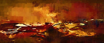 复古抽象油画装饰画