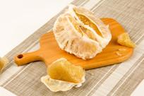 高清柚子摄影图