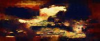 酒店高端抽象油画