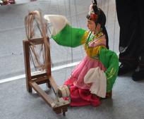 木偶戏仙女纺纱
