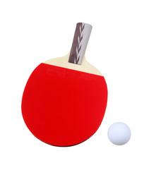 乒乓球拍和乒乓球