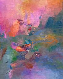 现代抽象油画