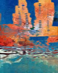 玄关抽象油画壁画