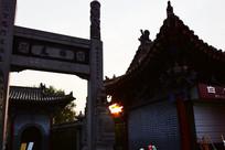 白马寺古建筑一角