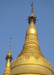 缅甸大金塔的金顶