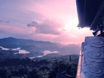 紫霞中的宝殿