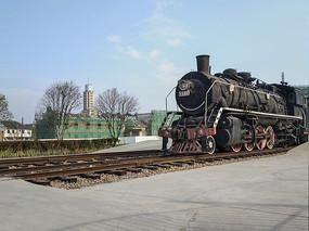 车站蒸汽机车